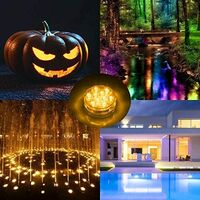 Remote Controlled LED Swimming Pool, 4 Sets of Underwater Fountains, Aquarium Diving LEDs, Spas, Ponds, Pools, Pedestals, Vases, Gardens, Weddings, Festivals