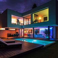 LED Light With 5m5050 Waterproof Kitchen Decoration 120LED Flexible Patch Blue Soft Light Bar