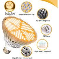 E27LED complete spectrum plant fill light flower succulent plant light led lamp high power pearl plant light