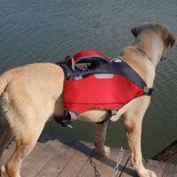 Dog rescue vest with reflective striped safety vest - L, 69-81cm