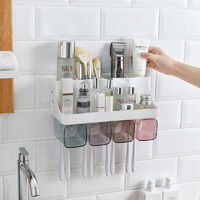 Toothbrush holder Bathroom holder, Four family, with toothpaste