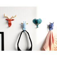 4 pieces hook hook hook animal hook coat holder key shelf wall shelf (color