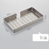 Bathroom Holder Shower Basket Stainless Steel Perforated 304 Black Stainless Steel Soap Holder--