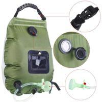 Solar Energy Collection Shower Bag Portable Shower Bag Camping Shower Bag 20L Bathwater Bag--