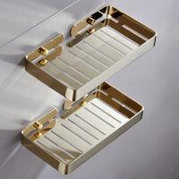 Bathroom Holder Shower Basket Stainless Steel Perforated 304 Stainless Steel Soap Door