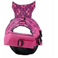 Pet Swimsuit, Rescue Vest, Reflective Pet Reflective Swimsuit, Whale Dog Swimsuit, (JSY04 Rose Rose) M