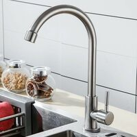 304 Stainless Steel Faucet Single Cold Faucet Kitchen Balconum Faucet