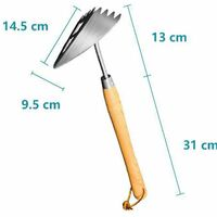 Gardening Tools Thickened Stainless Steel Domestic Weeding And Gardening Rake Agricultural Houe Outdoor Tool