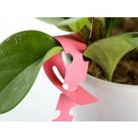 Sowing label, gardening label, rings set label, flower label (100 rinse set label sheets: pink)
