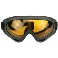 X400 glasses, tactical glasses, sand-resistant and shock-resistant goggles, windproof motorcycle goggles (black sand + orange)