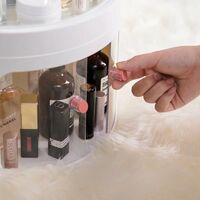 Cosmetic storage box Transparent anti-dust dressing table with cosmetic box top box Finishing box for desktop care products (Color Clear Chair)