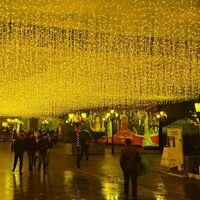 96 LEDs Luminous Curtains at 4m * 0.6m Garland Light warm and white