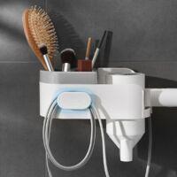Hair Dryer Holder Free Punching Bathroom Shelf Suction Wall Toilet Hair Dryer Storage Holder Hairdryer Shelf Housewares