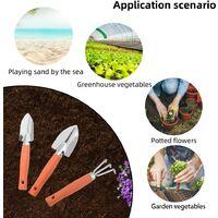 Mini Garden Tools Set, 3pcs Mini Gardening Tools, Garden Plant Tool Set, Spade, Shovel and Rakes, Mini Gardening Kit, Interior and Outdoor Gardening Tool