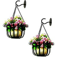 4pcs Ceiling Hooks for Hanging Plants Cart Carillon Eollans, Fixing Accessories with Screws, Wall Crochet Iron Art for Room Living Room Balcony