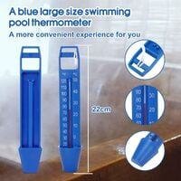 Pool Thermometer Floating Shocks Pool Thermometer with a rope for all & swimming pools, spas, hot tubs, aquariums & fish ponds