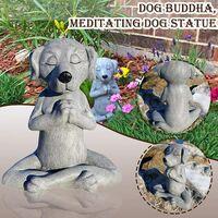 Stone Garden Tatue, Dog Buddha Ornament, Outdoor Meditation Dog Statue, Meditation Dog Statue for Home Decoration, Outdoor Art