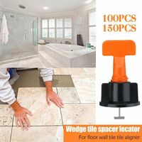 Tile leveling system, 50 pieces Kit leveling tile clip tiling, tile leveler with special key, tile level adjustter for wall construction