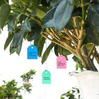 Waterproof Plastic Plastic Label Reusable Plastic Garden Label Multicolored Suspended Marking Labels Watermark Label With Twine 500 Pieces (5 Colors / 5x3.5cm)