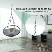 Suspension spring, steel spring, rotatable spring hammock, with 2 carabiners and 360 ° pivot, load capacity up to 250 kg for boxing bag holder, hammock, yoga