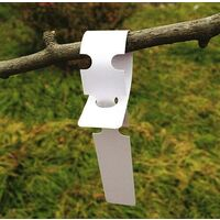 200 white plastic labels for plants and trees to hang 2 x 20 cm with large white writing surface