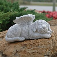 Angel Dog Honorary Statue Dog Tommel Statue, 20.5 cm, Polyresin