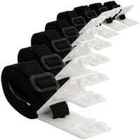Set of 8 holding straps | Straps and fastening clips for reels | Replacement accessories for mobile winder system, tarpaulins and pool covers