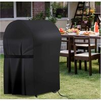 BBQ cover, barbecue cover, 210D Oxford protection BBQ resistant cover suitable for Weber, Brinkmann, Tank BROIL etc, UV resistant, water and tears (76*66*110cm)