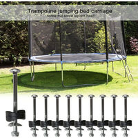 Lot of 12 trampoline spacers with screws to attach the trampoline - Spare parts for trampoline