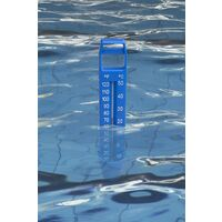 Large pool thermometer with rope, built-in pocket and splinter resistant, ideal for all outdoor / interior pools, spas, hot tubs and basins