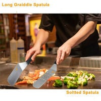 BBQ Spatula Kit, 20 pieces Barbecue Accessories Utensils for BBQ Spatulas Set and Grill Scraper Flipper Stainless Steel for Teppanyaki