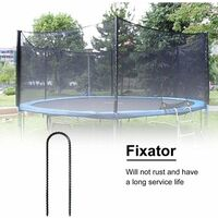 Trampoline Anchorages Security Steel Piquet for Antirust Trampoline, Safety Safety Floor Anchorage Type U Rugged for Football Goals, Camping Tents and Garden Decoration