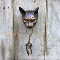 Door Strapping, Unique Cat and Mouse Door Input Animal Backy Beautiful Cat and Mouse Wall Tensile Statue for Wall Decoration of the House