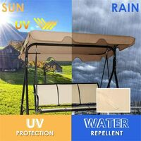 Swing Seat Canopies Replacement Canopy,Waterproof Top Cover&Seat Cover Dust Guard Protector Garden Patio Outdoor 2 Seater Sizes (Gray,142*120*18cm)