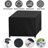 Garden Furniture Covers Waterproof Cube Furniture Cover Garden Table Cover Resistant Oxford 87*87*77cm