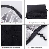 Patio Hanging Chair Cover 210D Oxford Fabric Heavy Duty Waterproof Veranda Patio Cocoon Egg Chair Garden Furniture Protective Cover Water and UV Resistant (black)