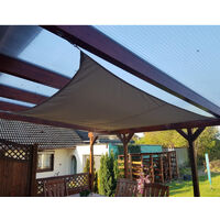 Sun Shade Sail Waterproof Sails Canopy , Garden Sail Outdoor Pergola Awnings, Sun Canopies for Patio with Awning Attachment, 95% UV Block Black 2X2M