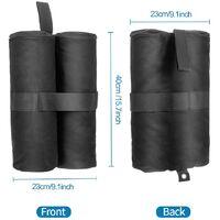 4 Pack Gazebo Weights Gazebo Sand Weights Leg 600D Oxford fabric Grade Sand bags for Pop up Canopy Tent Sun Shades, Umbrella, Anchoring Gazebos, Trampolines