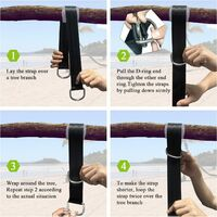 Betterlife hammock straps suspension straps for swing, 150cm outdoor hammock straps with safety carabiners for shaft swing and hammocks max.