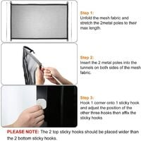 Dog safety barrier, magic door for dogs, Magic Gate Portable Dog Safe Guard, portable magic door to separate baby and pets