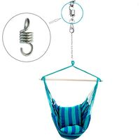 Betterlife Spring Hammock 3pcs 8mm Hammock Chair Spring, Spring Hook Extension, Hammock Chair Accessory, For Porch Chairs Suspended