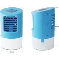 Portable Mobile Air Conditioner Personal Air Cooler 4 in 1 Mini Fan Cold Air Humidifier 3 Speed Purifier 2 / 4h Timer- 7 Colors Nighthouse for Home Office Camping