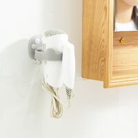 Betterlife High-end hair dryer seamless without hole wall hanging toilet bathroom toilet storage chat claw gray hairdryer