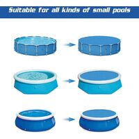 Swimming Pool Cover,Round Swimming Pool Cover,Swimming Pool Insulation Film, Pool Heat Insulation Dustproof Bubble Film,Summer Swimming Pool Cover,Pe Bubble Film (1.83M)
