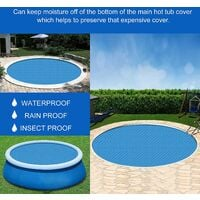 Swimming Pool Cover,Round Swimming Pool Cover,Swimming Pool Insulation Film, Pool Heat Insulation Dustproof Bubble Film,Summer Swimming Pool Cover,Pe Bubble Film (2.44M)