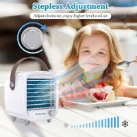 Desktop Portable Air Cooler for Office, Personal Mini Air Conditioner Units for Home, Small Mobile Cooling Air Ice Fan with