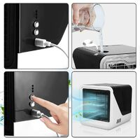 Personal Air Cooler, Portable Mini Air Conditioner - 4 in 1 Mini USB Air Conditioner Fan, Purifier, Sterilizer, Humidifier, 3 Speeds Desktop Cooling Fan for Office, Home, Dorm, Travel