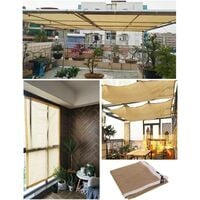 Shade Panel,Shade Fabric Sun Shade Cloth Taped Edge with Grommets Sun-Block Mesh Shade for Pergola Cover Canopy-2*2m
