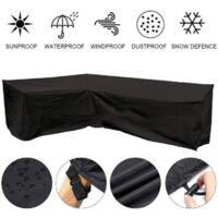 Furniture Cover Waterproof, 210D Heavy Duty Oxford Fabric Outdoor Rattan Corner Sofa Cover (200*270CM)