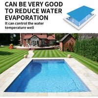 Solar Pool Cover RectangularThick Solar Film Cover for Hot Tub Frame Pool or Easy Set Pools, Blue